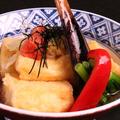 料理メニュー写真栃尾毘沙門堂の豆富を使用した揚げ出し豆腐