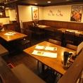 落ち着いた空間でお食事♪会社帰りにお食事をリーズナブルに美味しくお楽しみ下さい。※写真は系列店