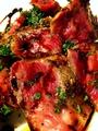 料理メニュー写真和牛ロースのタリアータ 季節野菜添え バルサミコソース