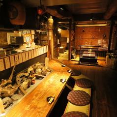 東海道五十三次をイメージした店内です