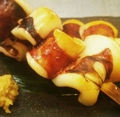 料理メニュー写真好評 いかオヤジ串(2本)