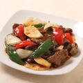料理メニュー写真牛肉の薄切り黒胡椒炒め
