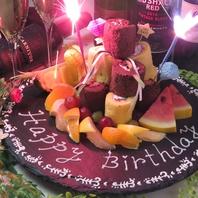誕生日・記念日サプライズOK★デザートプレート1000円★
