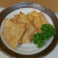 料理メニュー写真一週間で5食限定♪パリパリ食感がクセになる【鶏皮せんべい 400円】