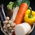 料理メニュー写真しゃぶしゃぶのお野菜も新鮮さにこだわっております