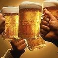 ドリンクの種類も豊富です!全国各地の地酒を多数ご用意しておりますのでお酒好きにはたまりません!その他にも定番のビールやカクテルもございますのでお好みの一杯をお愉しみください!飲み放題付プランもございますのでそちらも是非