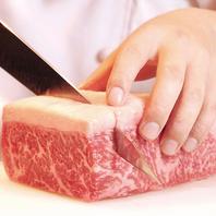 お肉はもちろん店内手切り