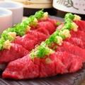 料理メニュー写真厳選和牛の肉寿司 3貫