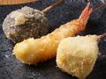 料理メニュー写真海老/椎茸/カマンベール/ししゃも/帆立/豚巻チーズ/南瓜チーズ