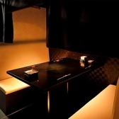 BOXテーブル席は4名様用×5卓・3名様用×1卓を完備。カーテン仕切りの半個室としてご利用いただけます。