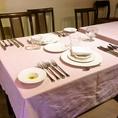 レストランは18人より貸切ができます。最大24人位 ビュッフェスタイルの場合は35人位。