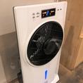 【ハシゴのコロナウィルス感染症の取組その2】大広間に次亜塩素酸水発生装置を完備。店内の除菌に努めております。
