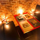 お部屋紹介【1】 2~4名様用のお席☆大人の雰囲気がコンセプトの個室はお勤め先でのご宴会や気の合う仲間との飲み会などにもおすすめ。雰囲気抜群の店内でデートや女子会など、各種ご宴会をお楽しみください。