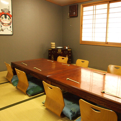 12名様でご利用頂けるお座敷タイプの個室です。