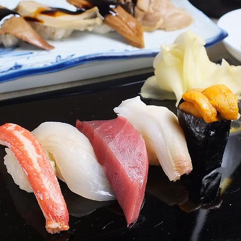おまかせ寿司はその日の時価!日によってネタは異なります。