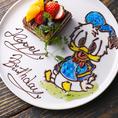 大人気キャラケーキのサプライズもご予約可能!好きなキャラクターのケーキで誕生日の主役に最高のサプライズを!【心斎橋 誕生日 記念日 歓迎会 送別会 コンパ ハロウィン 難波 個室 イタリアン 飲み会 宴会 貸切 忘年会 新年会】