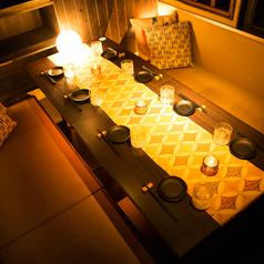 会社宴会や仲間内の飲み会、女子会やお誕生日のお祝いなど様々なシーンに合わせてご利用ください。食器や壁一面が絵等もこだわっていますので、お食事と一緒に優雅なひとときを♪各種宴会で人数に合わせた席をお作りできます。少人数~大人数までバッチリ対応させて頂きます。