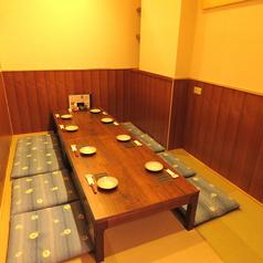 4名様個室は、お仕事帰りのお疲れサマ会などに♪周りを気にせず会話を楽しんでください。