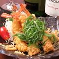 料理メニュー写真海老マヨ天の葱まみれ