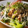 料理メニュー写真あまから豚肉と上賀茂地野菜のサラダ丼