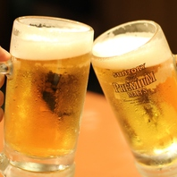 [24時以降の入店で]生ビール・各種サワーが半額!?