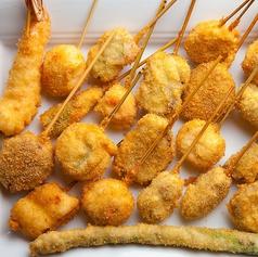 鶏/豚/道産牛/レバカツ/ウインナー/イカ/ホタテ/エビ/サーモン/白身魚