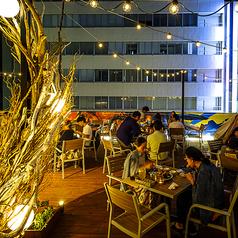 人数がフレキシブルに設定できるテーブル席もご用意。2名様~最大46名様でテーブルはお使い頂けます。ビアガーデンWR.uで素敵な夏の思い出づくり♪