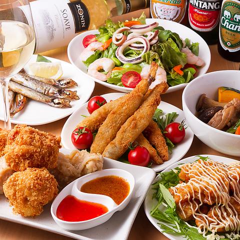 肉と野菜を楽しめるお店!世界各国のワイン&ビアが勢ぞろい!!