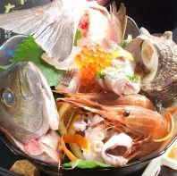 自社水産業の新鮮魚介