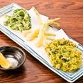 料理メニュー写真沖縄野菜天ぷら3種盛り合わせ