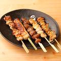 料理メニュー写真厳選鶏串5本盛り (タレ/塩ダレ)