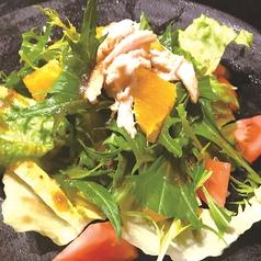 ほぐし鶏のオレンジサラダ