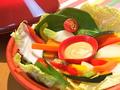 料理メニュー写真タジンスチームの温かい蒸し野菜サラダ 磯の香りのバーニャカウダソース