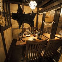 宴会向きの席マタギの熊狩り作戦部屋 半個室