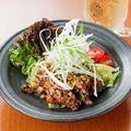 料理メニュー写真鶏の唐揚げ 華 sansyou ソース炒め (辛さ2)