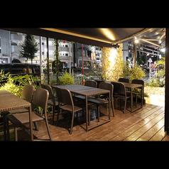 【オープンテラス】開放感のあるオシャレなテラス席は春~秋にかけて大人気♪気持の良い雰囲気のもと、今夜は語り明かしましょう!!