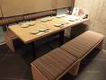 背もたれ式のテーブル。ついつい長居を・・