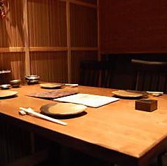 テーブルタイプの少人数の個室です。