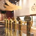 ヱビス専用のビールサーバーをご用意♪『ヱビスビール』専門店だからこそこだわり尽くした最高の味わい・品質。素材と製法にこだわった「本物」のラインナップ。