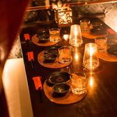 女子会や合コンにオススメのお席です。程よい明るさの照明で落ち着きある大人な雰囲気を演出♪他のお客様を気にすることなくゆったりとお食事とお話をお愉しみください♪