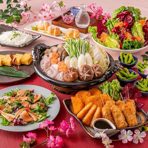 神田川流鶏ちゃんこ鍋「たなばたコース」飲み放題2.5H含む全8品