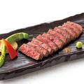 料理メニュー写真黒毛和牛 赤身肉のステーキ