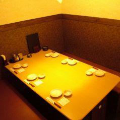 6名様まで座れる半個室席。