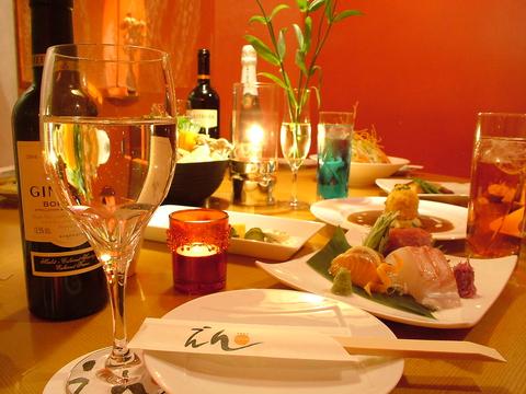 月替わりの2時間飲み放題付のコースが人気!会社宴会、女子会、合コンにもオススメ!