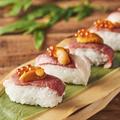 料理メニュー写真和牛ブリスケット炙り肉寿司5貫