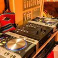 【音響設備】DJブースもあります!マイクも貸出OK!