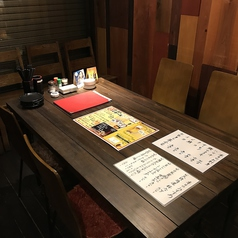 テーブル席をご用意しております。
