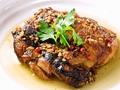 料理メニュー写真地鶏ガーリックチキン