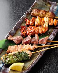 紀州梅鶏焼き鳥盛合せ 6本