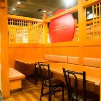 【日比谷での各種宴会に】テーブル・BOX席も完備